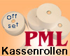 PML Bonrollen Normalpapier B 38mm/L ca. 25m/ø 50mm/12mm Hülse (50 Additionsrollen)